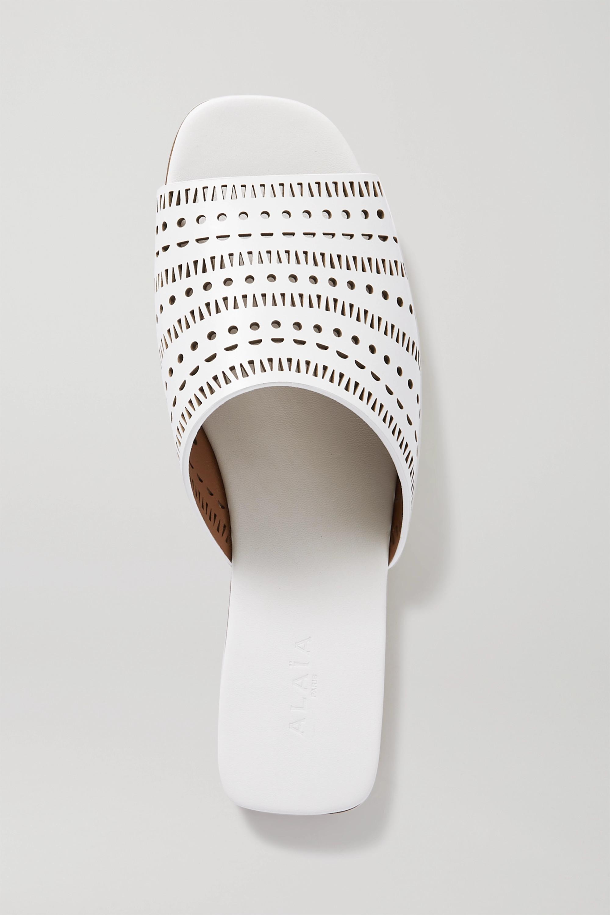 Alaïa Laser-cut leather slides