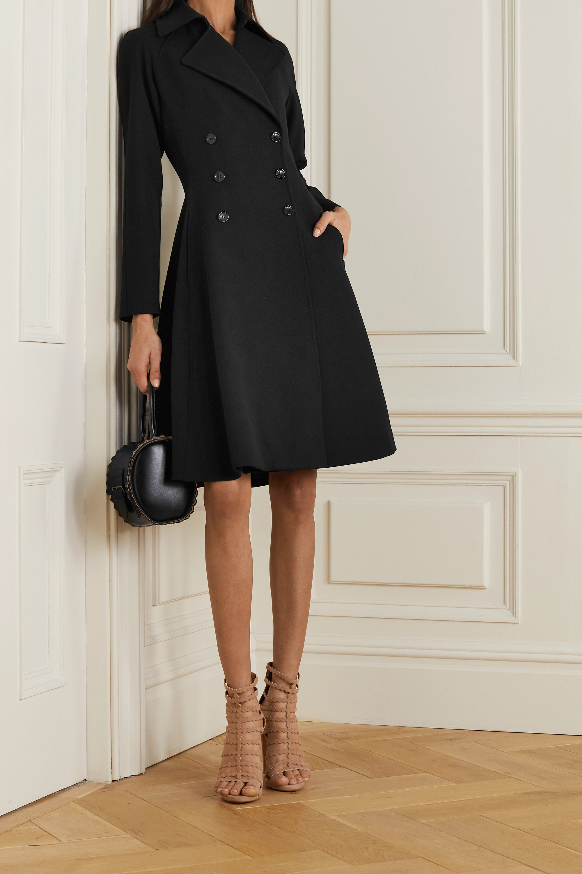 Alaïa Editions double-breasted wool-twill coat