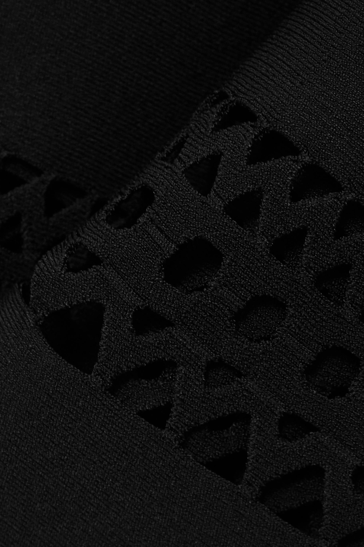 Alaïa Editions laser-cut knitted mini dress