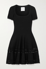 Alaïa Editions laser-cut knitted mini dress
