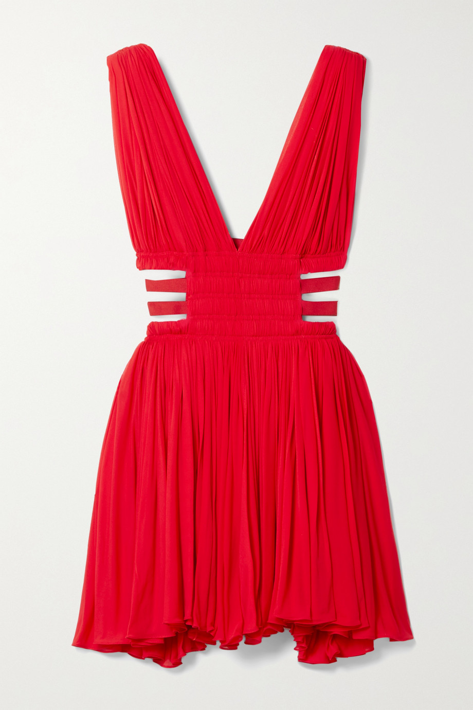 Alaïa Editions cutout gathered chiffon mini dress