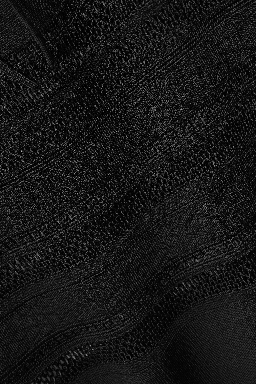Alaïa Robe longue en mailles ajourées à nœud Editions