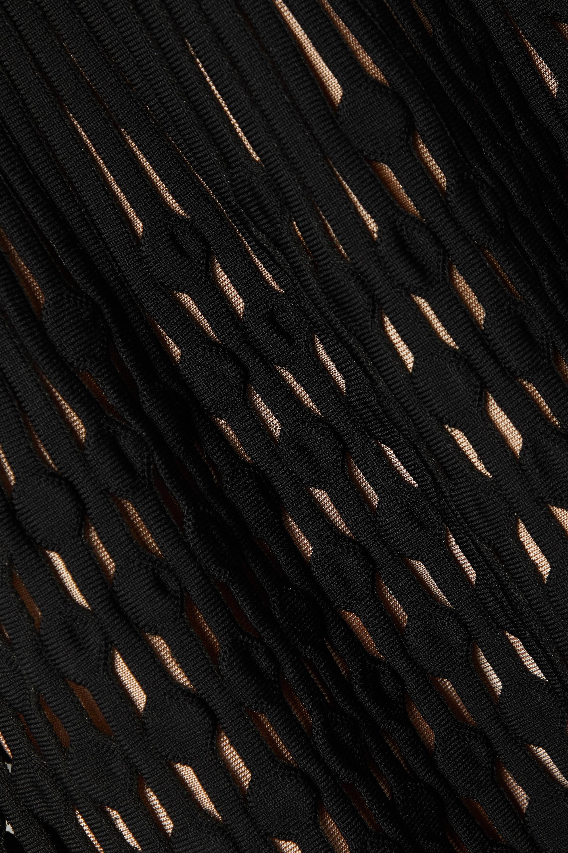 Alaïa Kalimba Maxikleid aus geripptem Stretch-Strick mit Cut-outs
