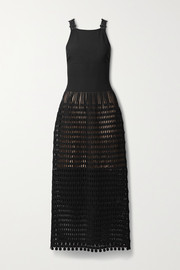 Alaïa Kalimba cutout ribbed stretch-knit maxi dress