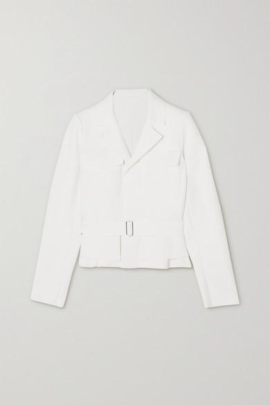 Alaïa - 配腰带弹力双罗纹夹克 - 白色 - FR40