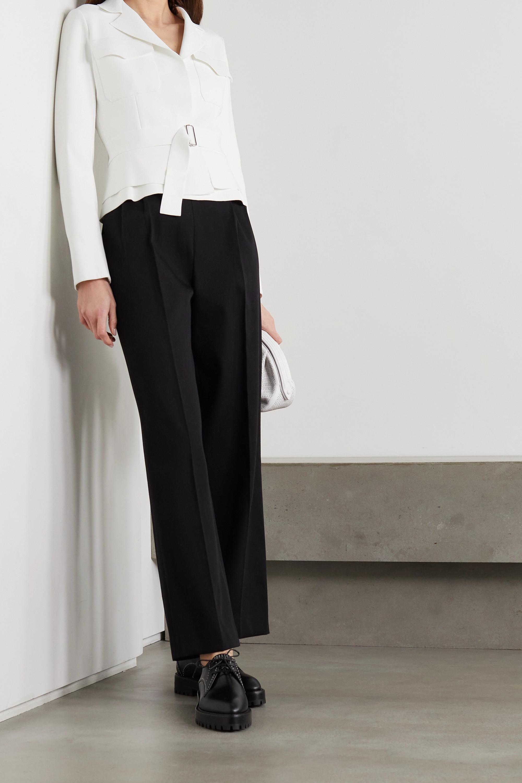 Alaïa Belted stretch-ponte jacket