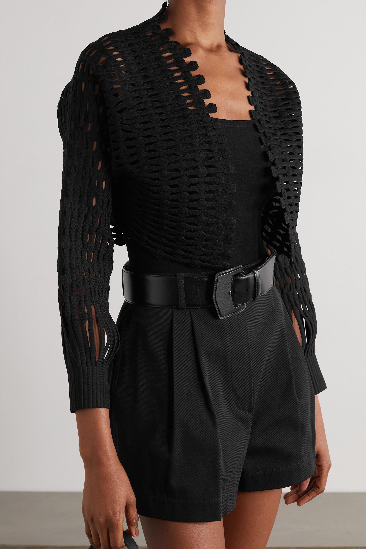 Alaïa Kalimba cropped open-knit jacket