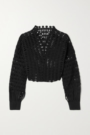 Alaïa Kalimba cropped open-knit jacket
