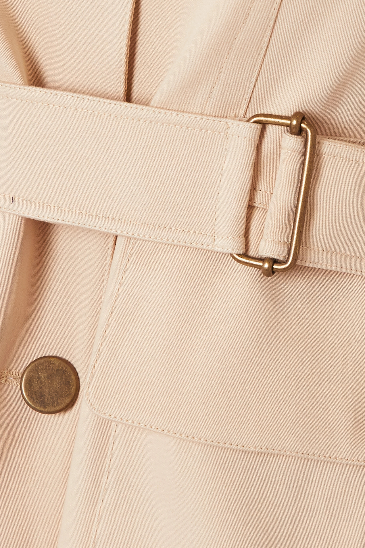 Alaïa Veste en gabardine de coton à ceinture