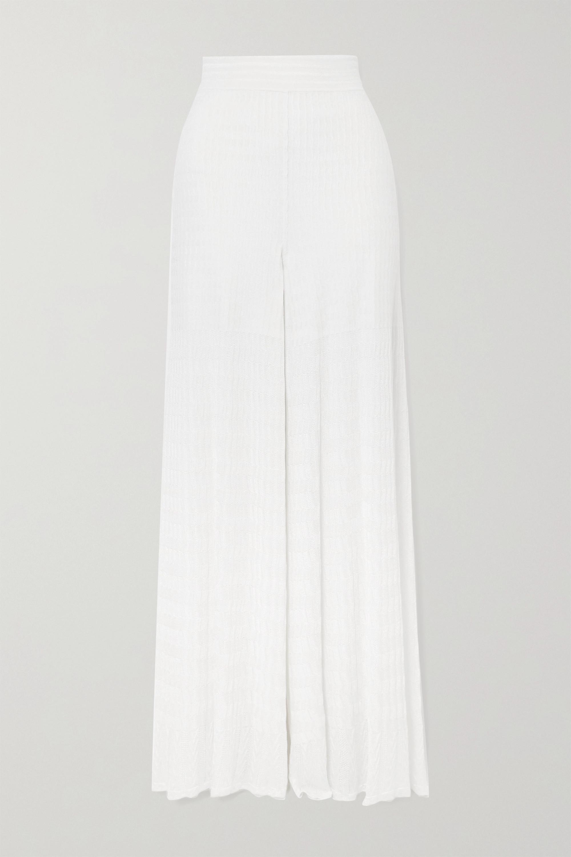 Alaïa Editions knitted wide-leg pants