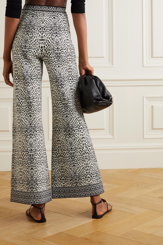 Alaïa Jacquard-knit wide-leg pants