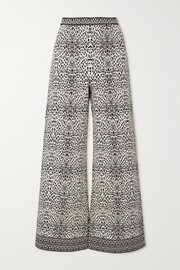 Alaïa Jacquard-knit wide-leg pants
