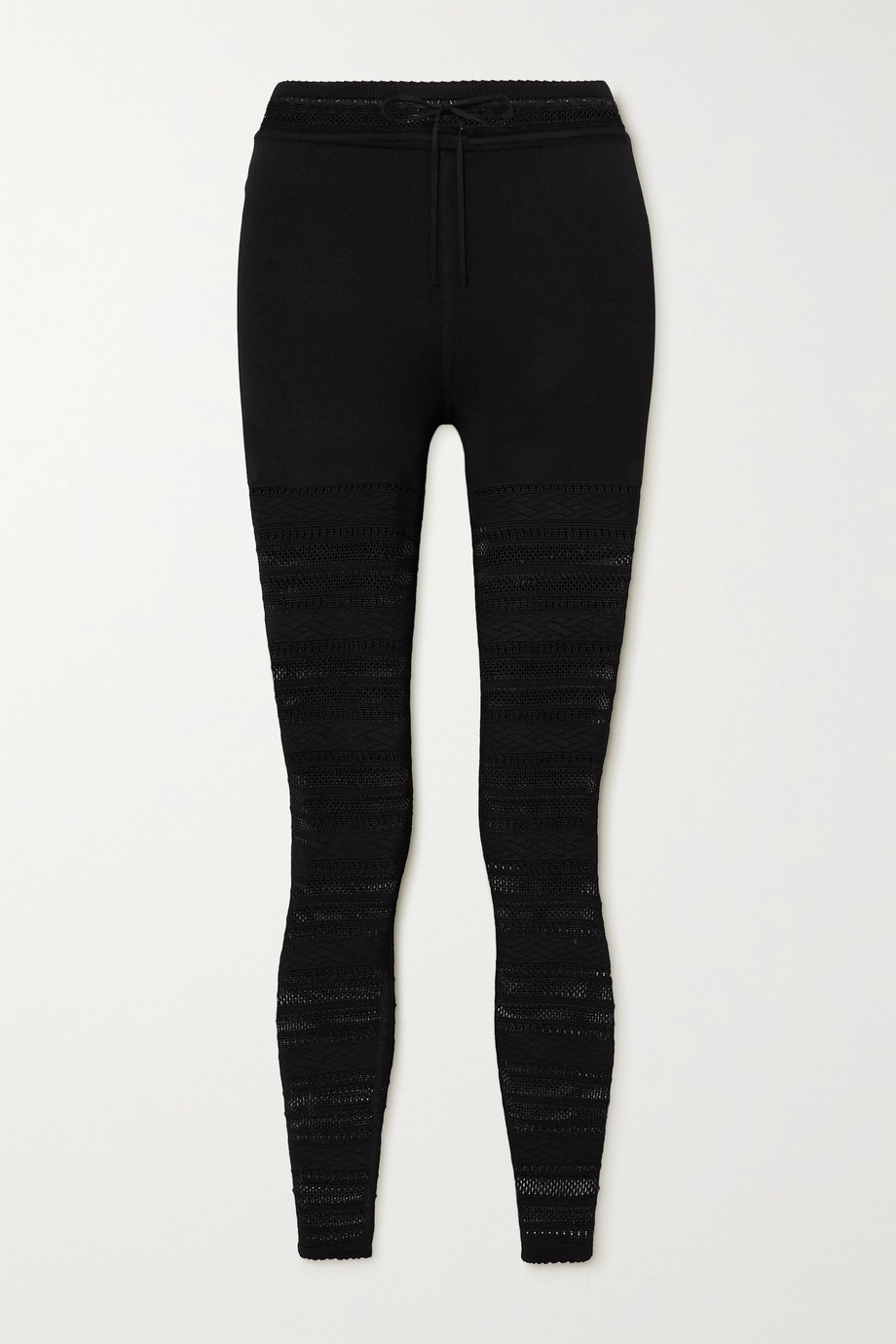 Alaïa Editions Leggings aus Lochstrick