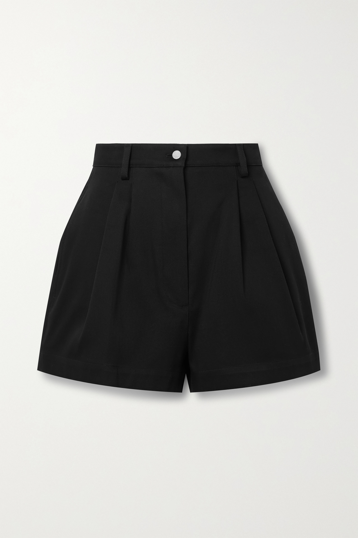Alaïa Pleated cotton-gabardine shorts