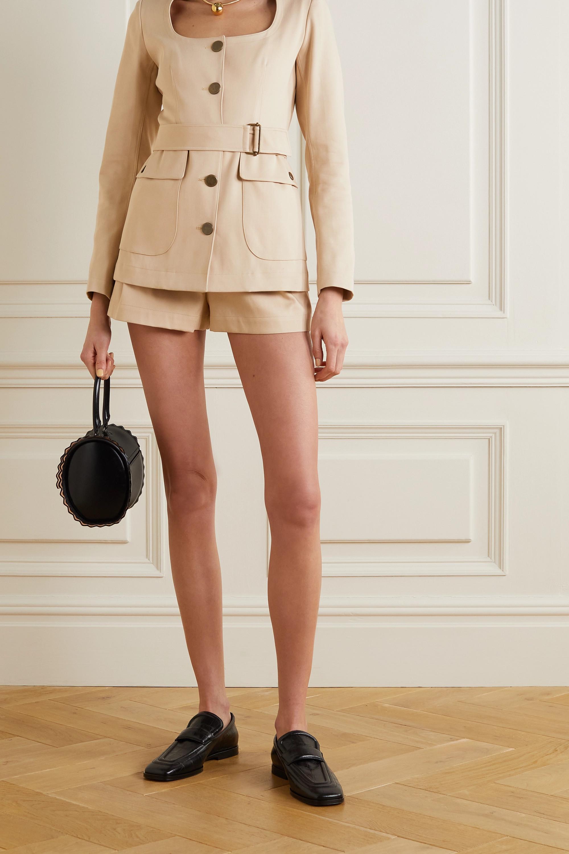 Alaïa Shorts aus Baumwollgabardine mit Falten