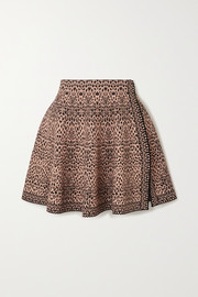Alaïa Pleated jacquard-knit mini skirt