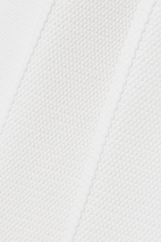 Alaïa Editions Minirock aus Piqué mit Falten