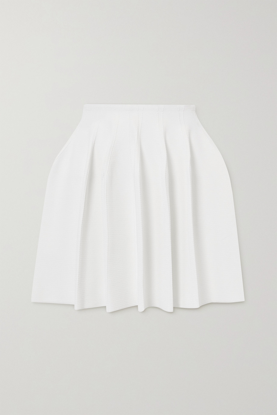 Alaïa Editions pleated piqué mini skirt