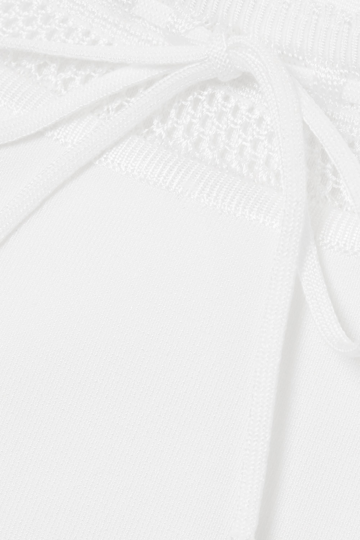 Alaïa Editions verkürztes Oberteil aus Stretch-Strick mit Schleife
