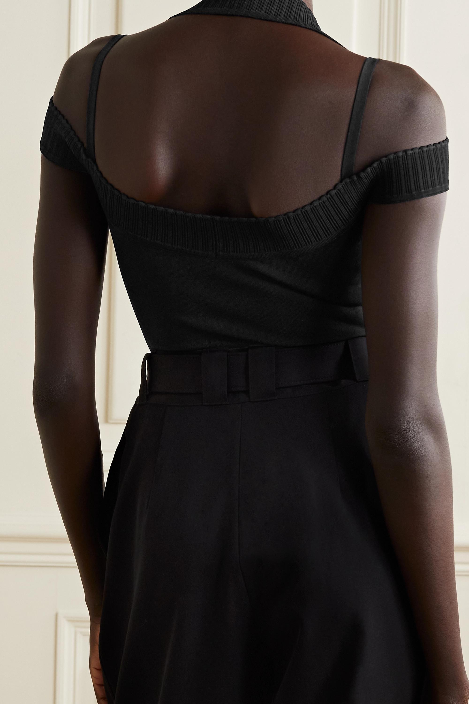 Alaïa Body aus Strick mit Schulter-Cut-outs