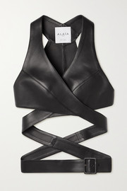Alaïa Editions leather wrap top