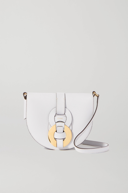 Chloé Darryl kleine Schultertasche aus strukturiertem Leder