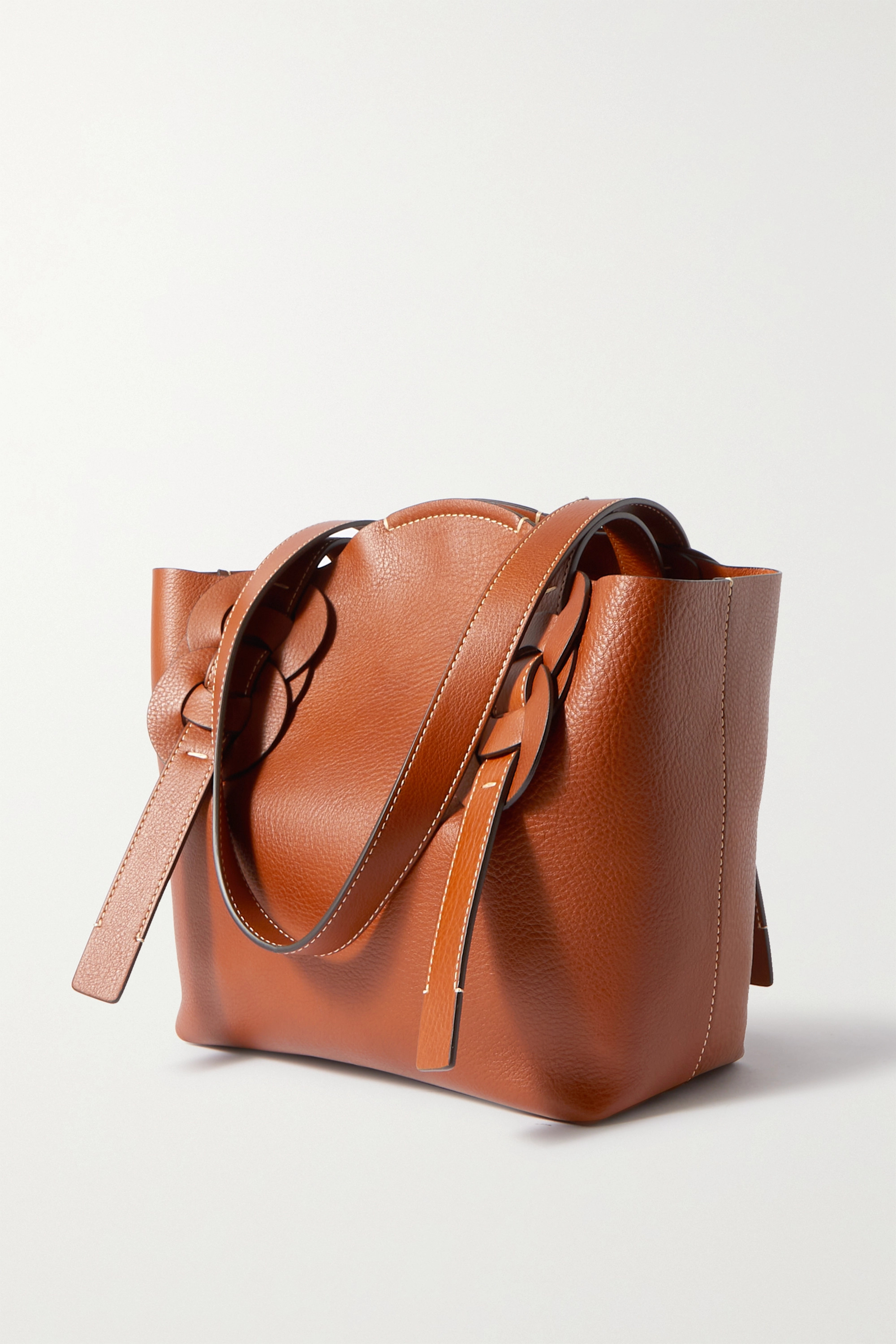 Chloé Darryl small braided textured-leather tote