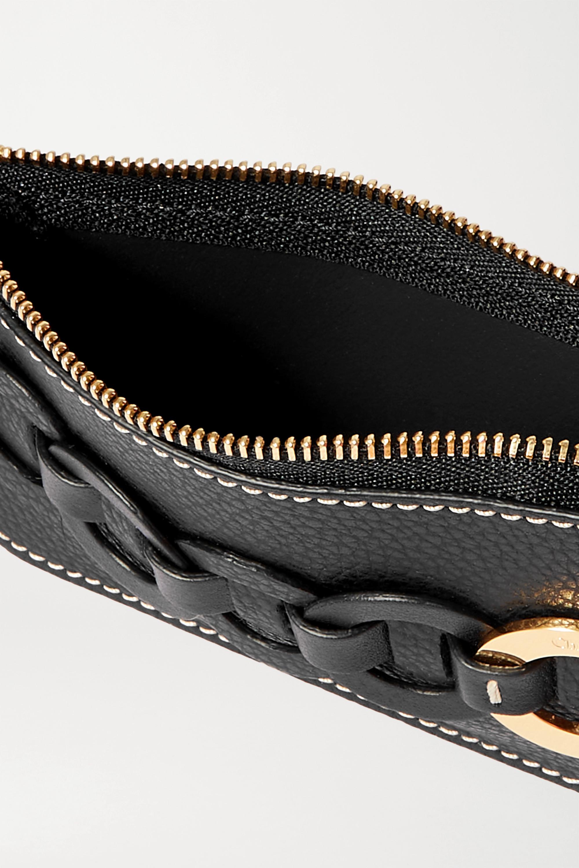 Chloé Darryl textured-leather cardholder