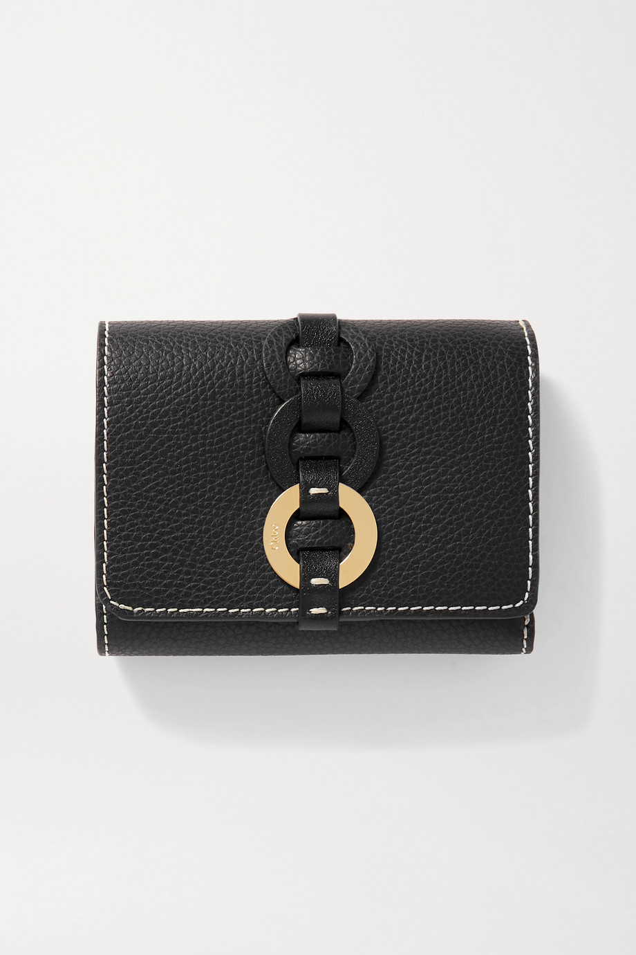 Chloé Darryl textured-leather wallet