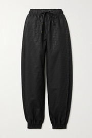 Fendi Printed shell track pants