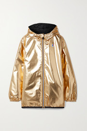 Fendi + K-Way reversible hooded appliquéd printed shell jacket