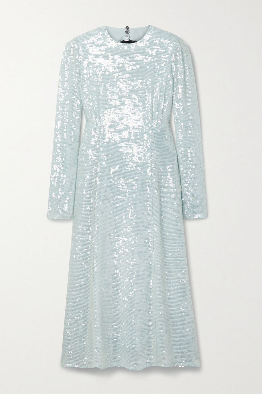 Erdem Cutout sequined tulle midi dress