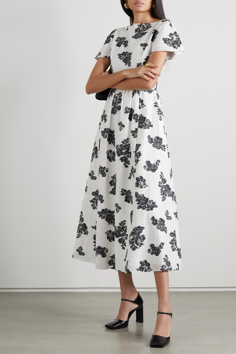 Erdem Fraser fil coupé twill midi dress