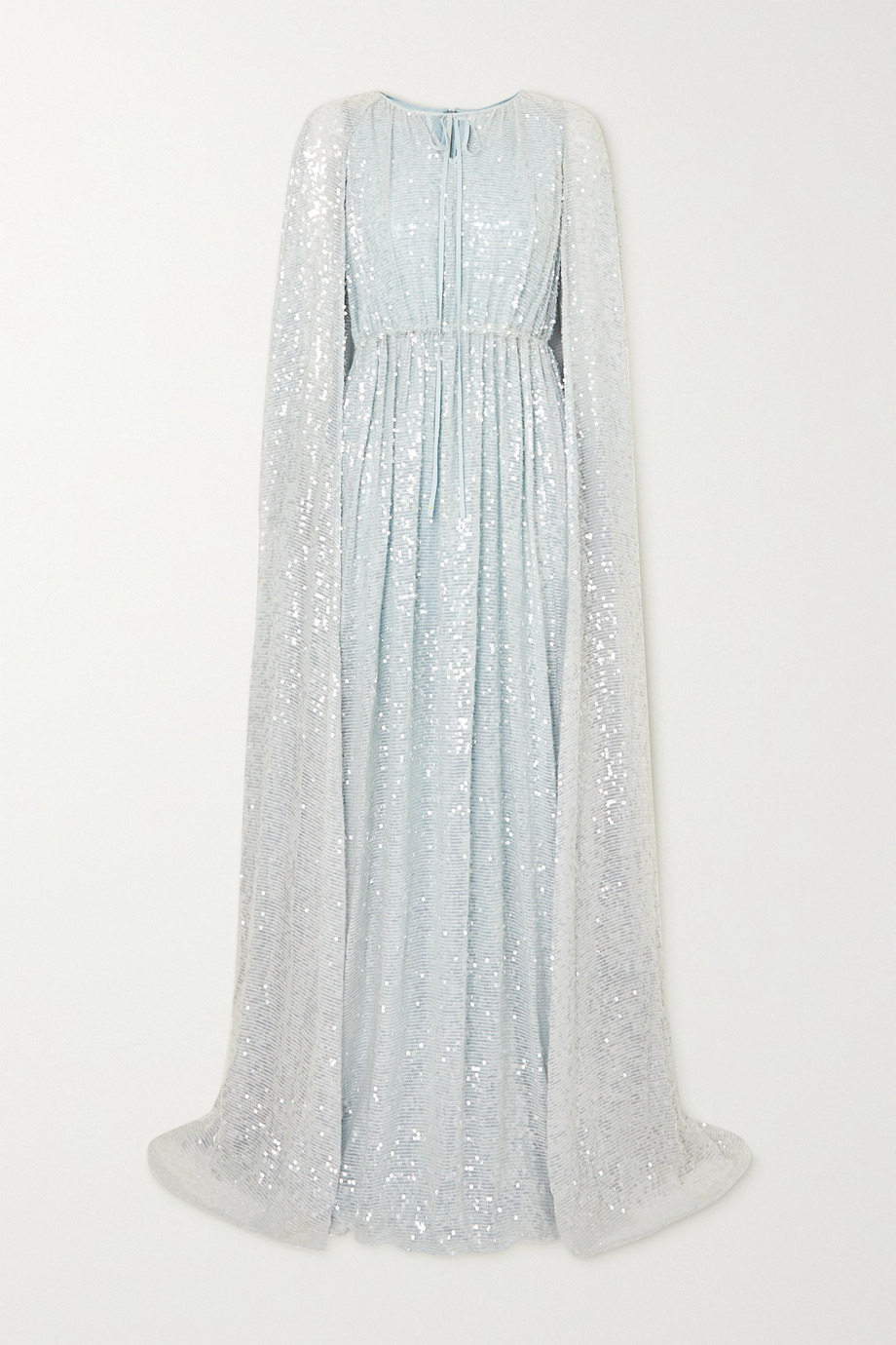 Erdem Kenley cape-effect sequined tulle gown