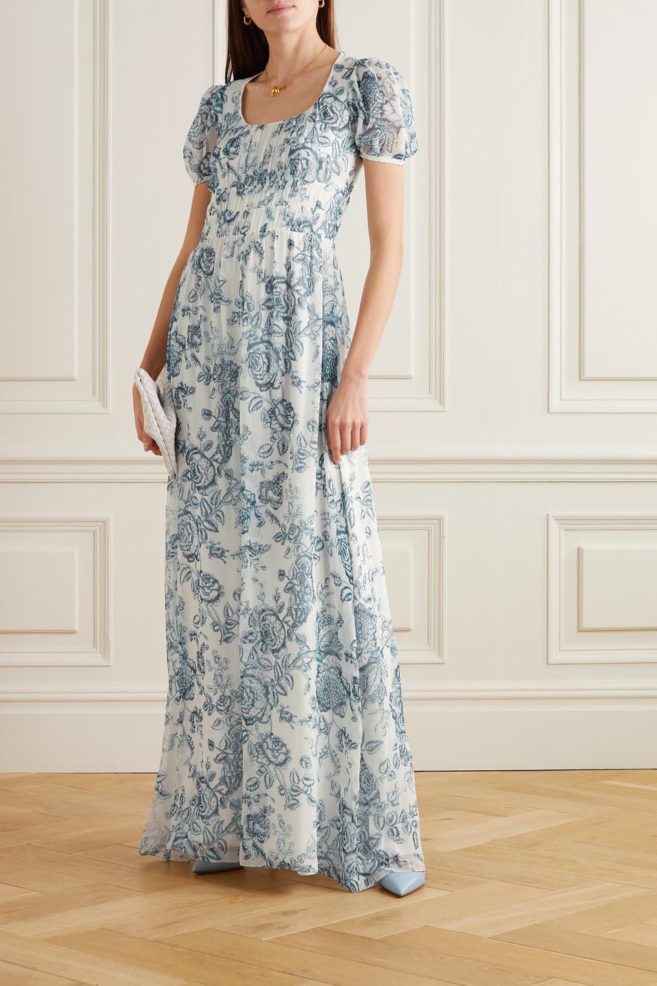 Erdem Toile de Jouy silk-voile gown