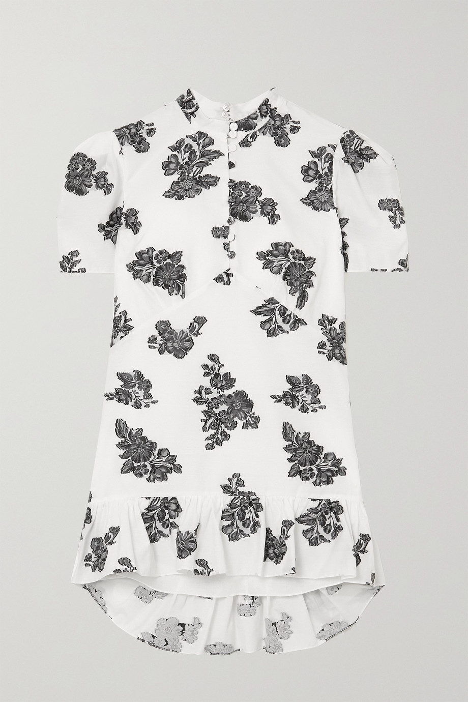 Erdem Editha ruffled fil coupé twill blouse