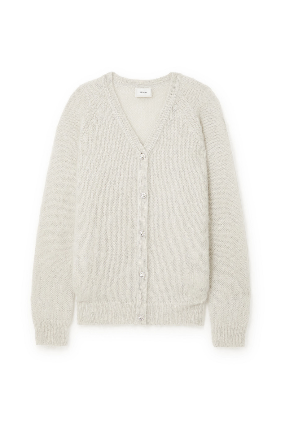 Erdem Marcilly crystal-embellished mohair-blend cardigan