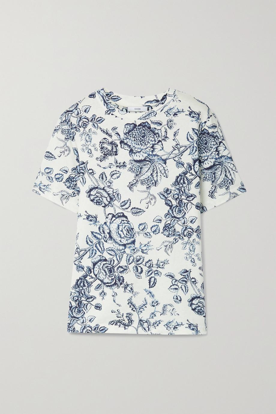 Erdem Hettie floral-print cotton-jersey T-shirt
