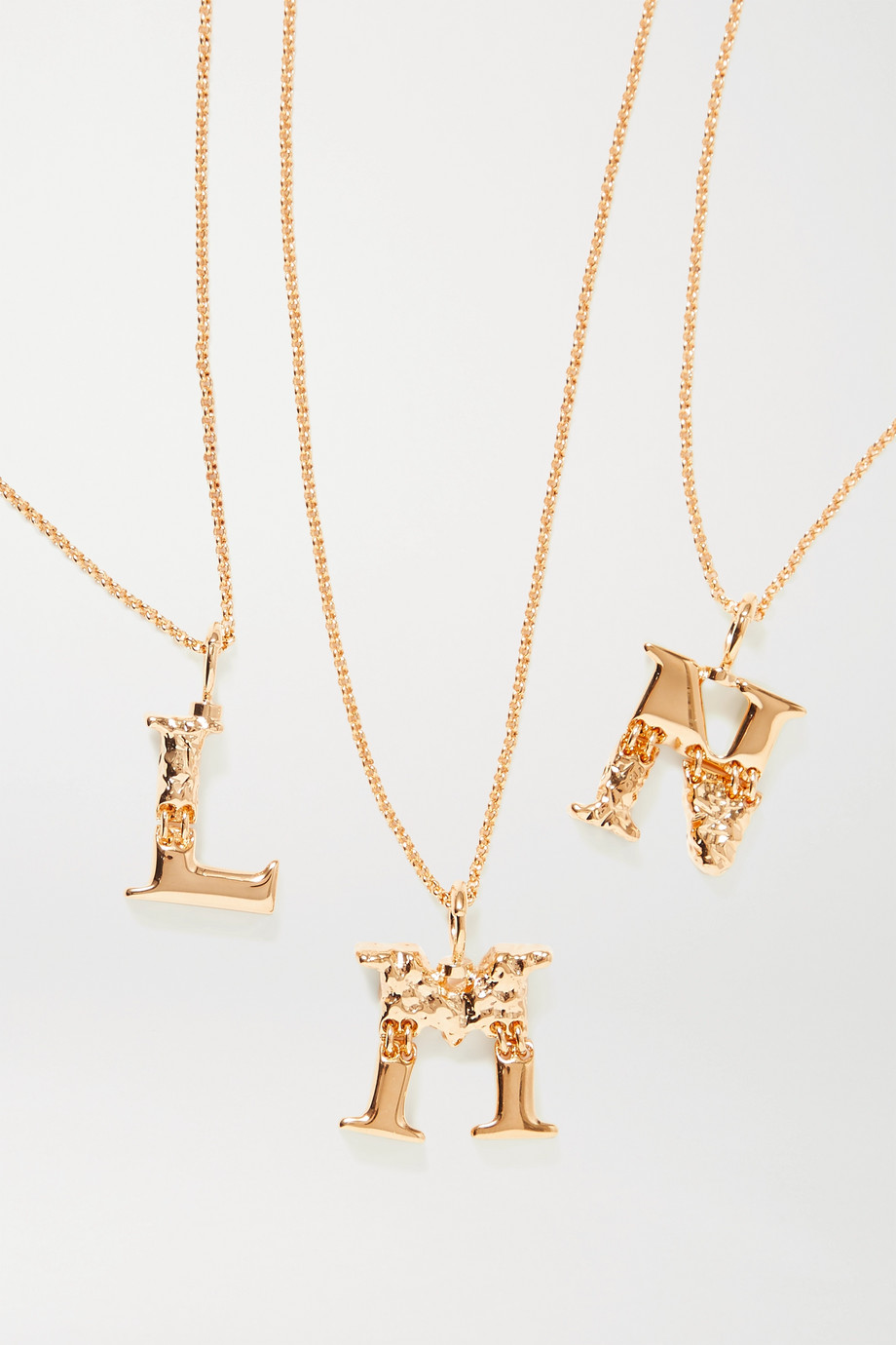 Chloé Alphabet gold-tone necklace