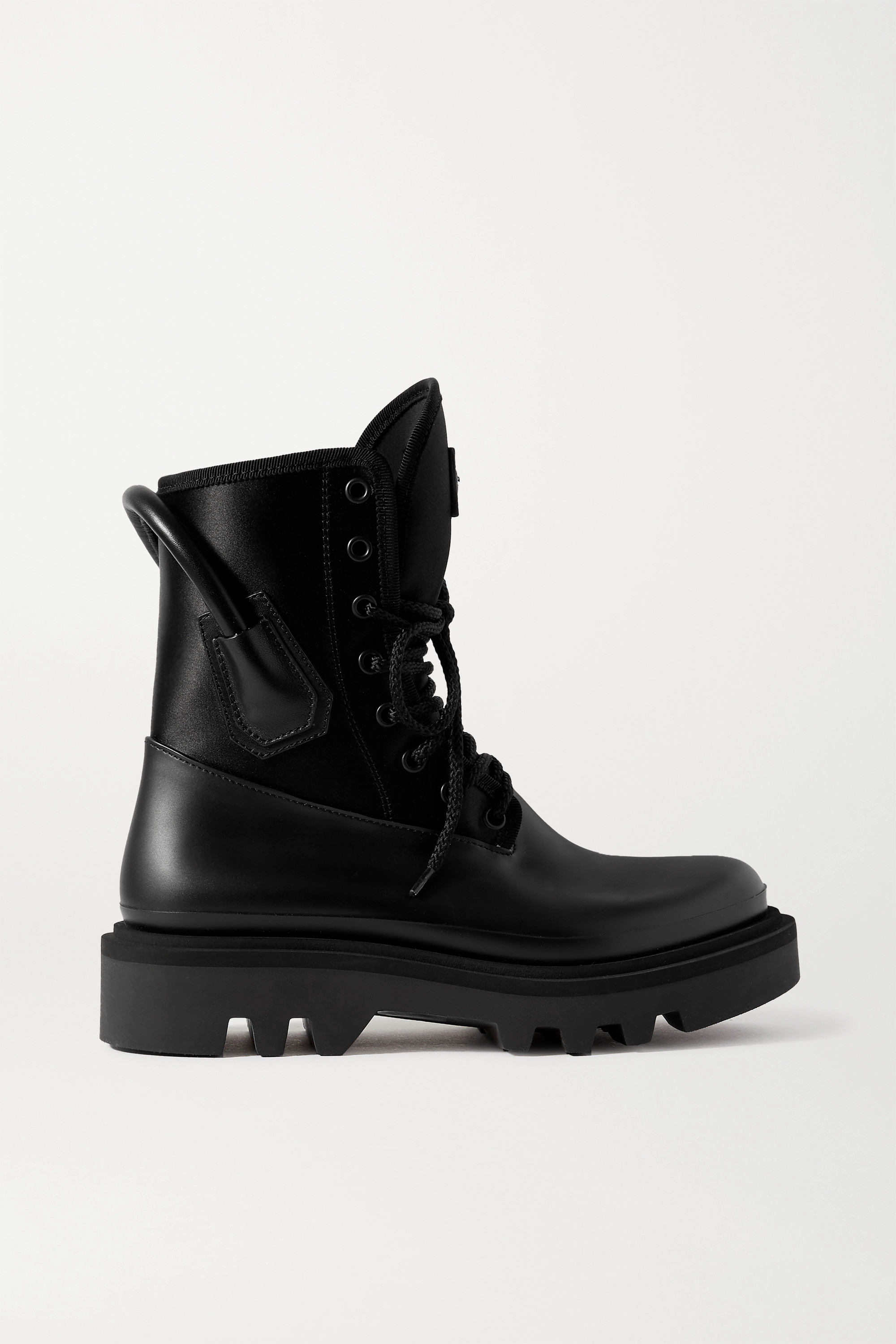 Givenchy Combat leather and neoprene ankle boots