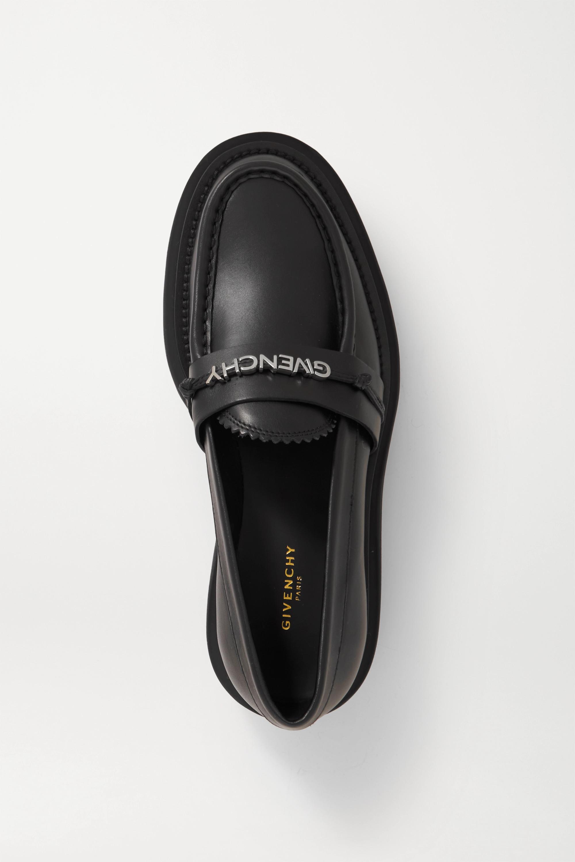 Givenchy Elba logo-embellished leather platform loafers