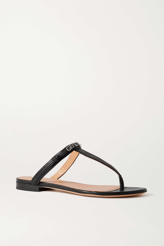 Givenchy Sandales en cuir à logo Elba