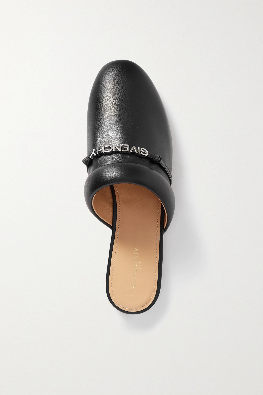 Givenchy Elba Slippers aus Leder mit Logo
