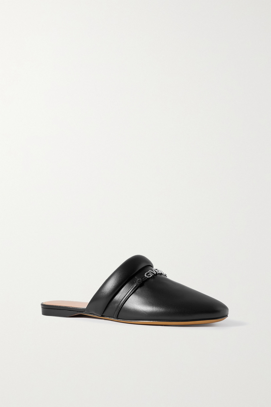 Givenchy Elba logo-embellished leather slippers