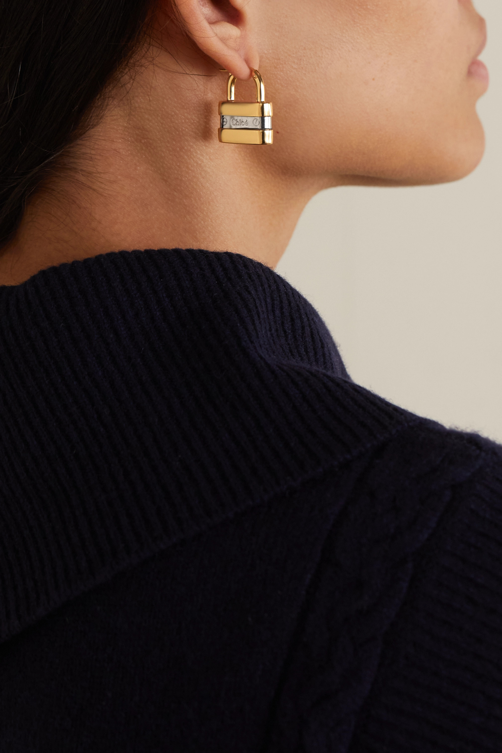 Chloé Colleen gold and silver-tone earrings