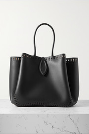 Alaïa Angèle 32 laser-cut leather tote