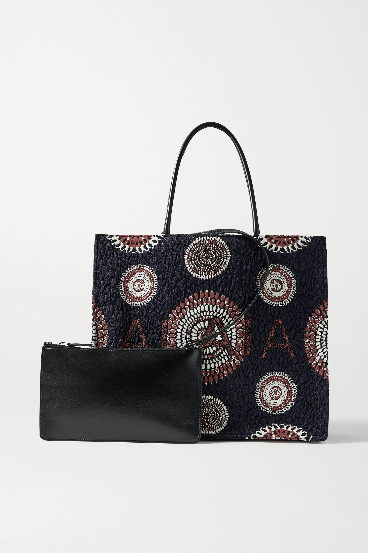 Alaïa Garance leather-trimmed cloqué tote