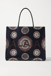 Alaïa Garance leather-trimmed cloqué tote