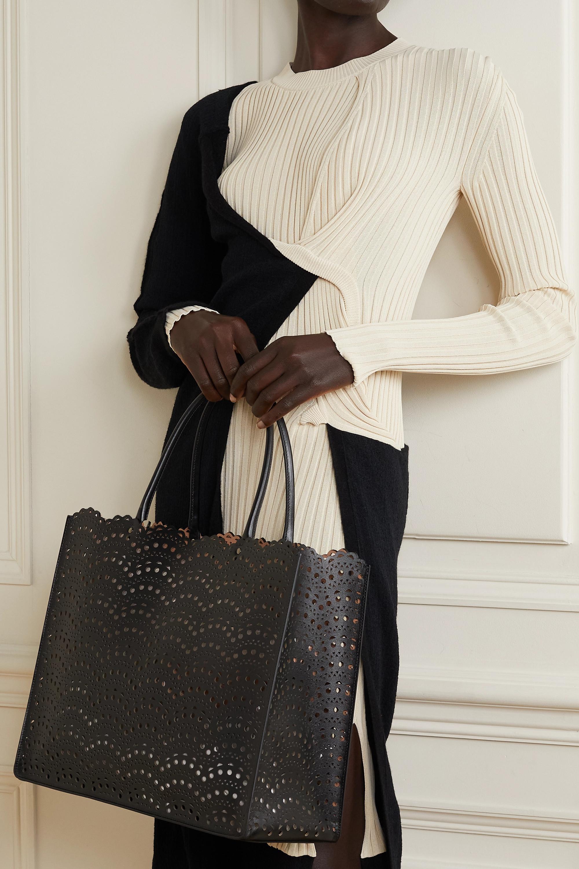 Alaïa Garance medium scalloped laser-cut leather tote