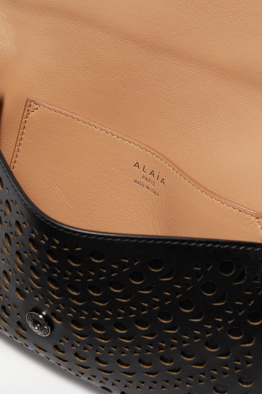 Alaïa Laser-cut leather clutch